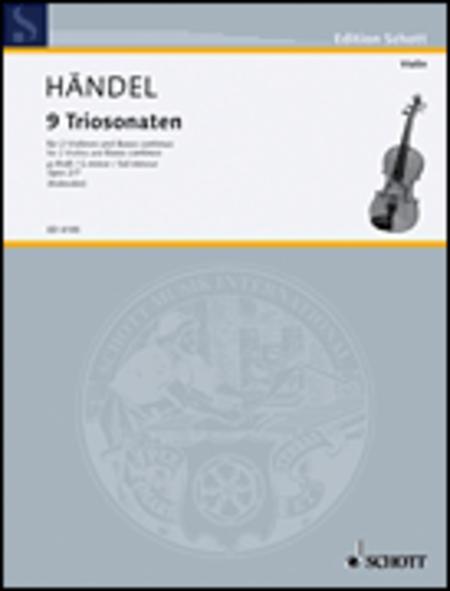 Nine Trio Sonatas op. 2 Nr. 7