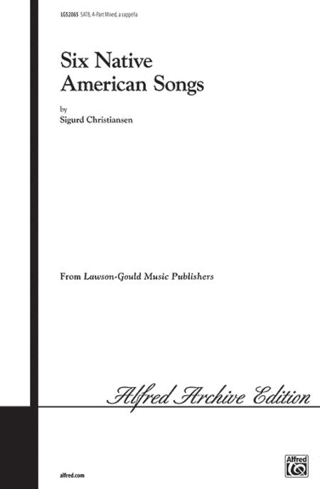 Six Native American Songs Sheet Music By Sigurd Christiansen