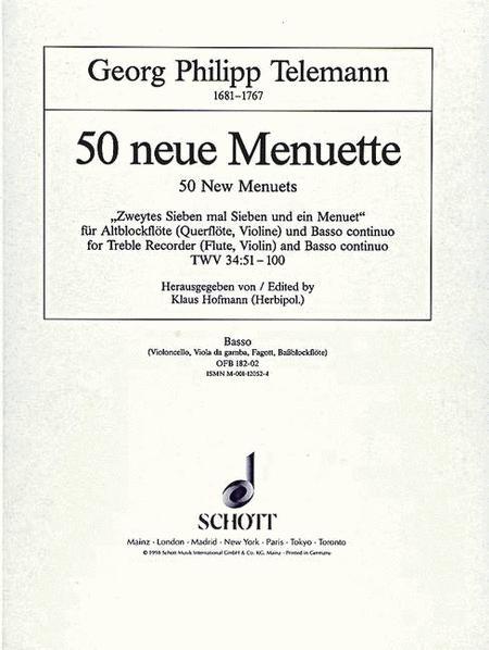 50 new Menuets TWV 34:51-100