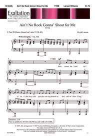 Ain't No Rock Gonna' Shout for Me