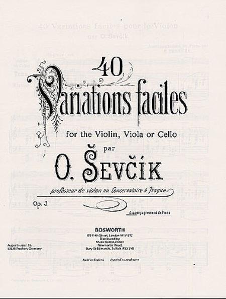 Sevcik Violin Studies: 40 Variations