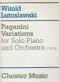 Paganini Variations for Solo Piano and Orchestra
