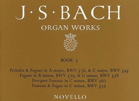 Organ Works Book 3: Preludes, Fugues & Fantasia