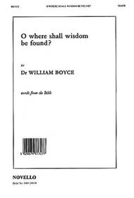 O Where Shall Wisdom Be Found?