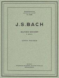 JS Bach: Piano Concerto In F Minor (Two Pianos)