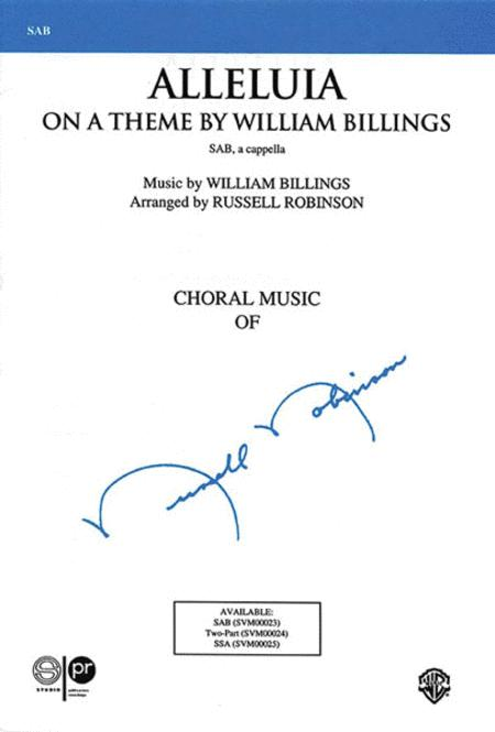 Alleluia (On a Theme by William Billings)