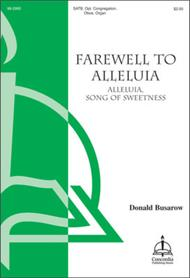 Alleluia, Song of Sweetness