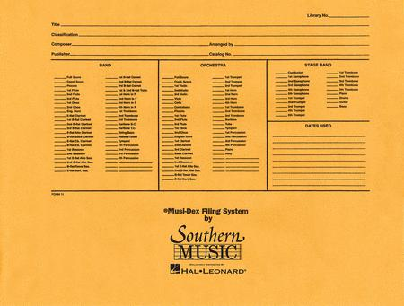 Musidex Band/Orchestra Concert Size Filing Envelope