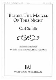 Before the Marvel of This Night (Instrumental Parts)