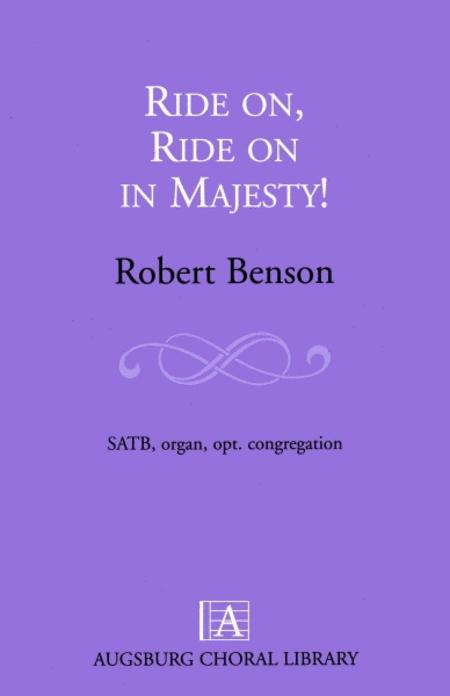 Ride On Ride On In Majesty Sheet Music By Robert A Benson Sheet