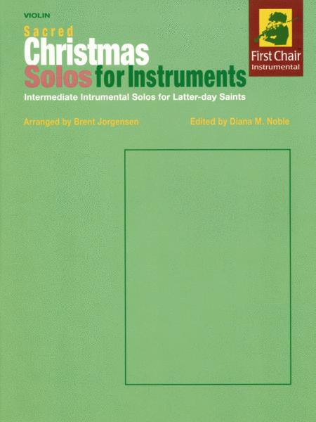 Sacred Christmas Solos for Instruments - Violin