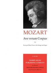 Ave Verum Corpus For SATB And Strings