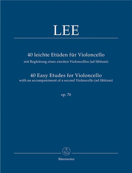 40 leichte Etueden for Violoncello with accompaniment of a second Violoncello (ad lib) op. 70