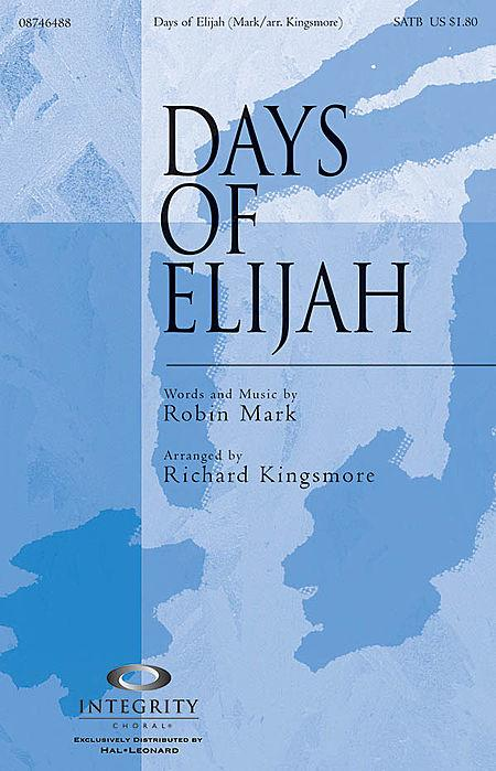 Days of Elijah - Accompaniment CD