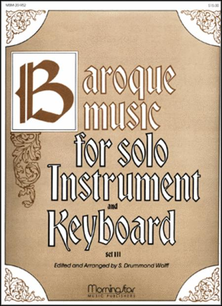 Baroque Music for Solo Instrument & Keyboard, III