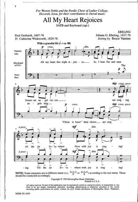 Preview All My Heart Rejoices By Bruce Vantine (MN 50-1043) - Sheet