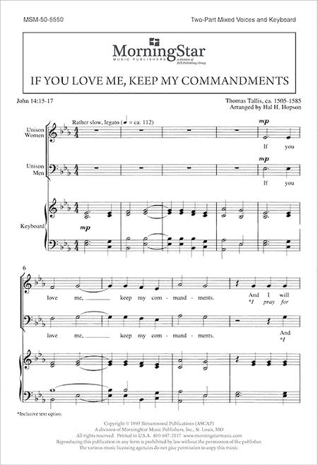 If You Love Me, Keep My Commandments