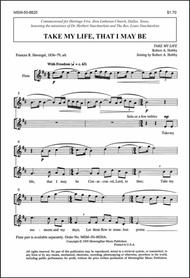 Take My Life, That I May Be (Choral Score)