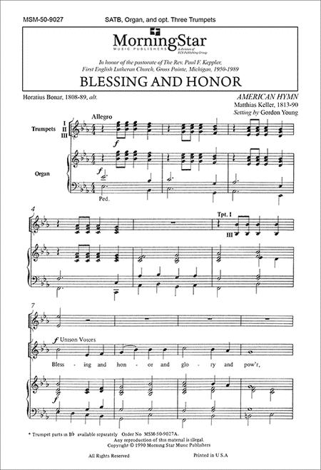 Blessing and Honor (Choral Score)