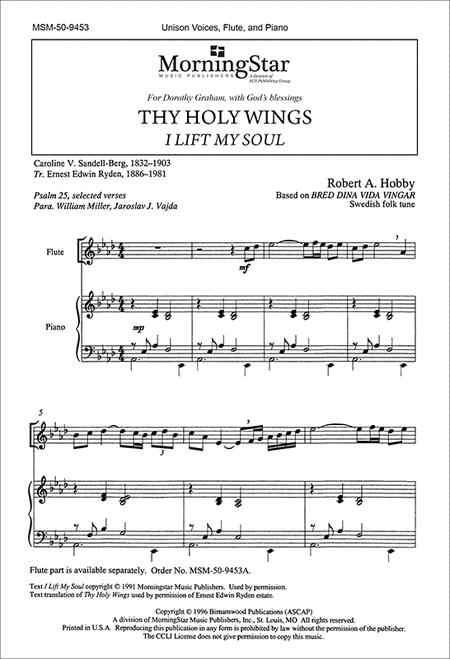 Thy Holy Wings I Lift My Soul (Choral Score)
