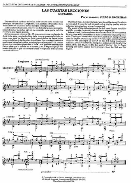 Julio S Sagreras Guitar Lessons Books 4-6