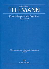 Concerto for two horns in D major (Concerto per due Corni in D)