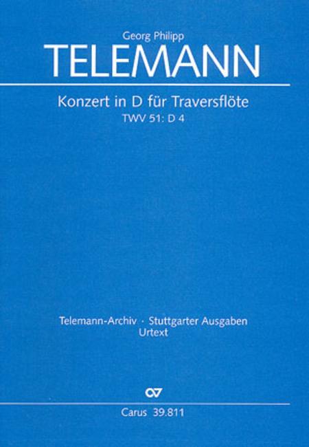 Concerto for flute (Konzert in D fur Traversflote)