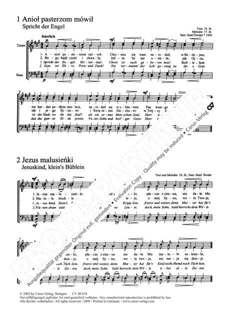 Polnische Weihnachtslieder Texte.Preview Zwolf Polnische Weihnachtslieder Fur Mannerchor A Cappella