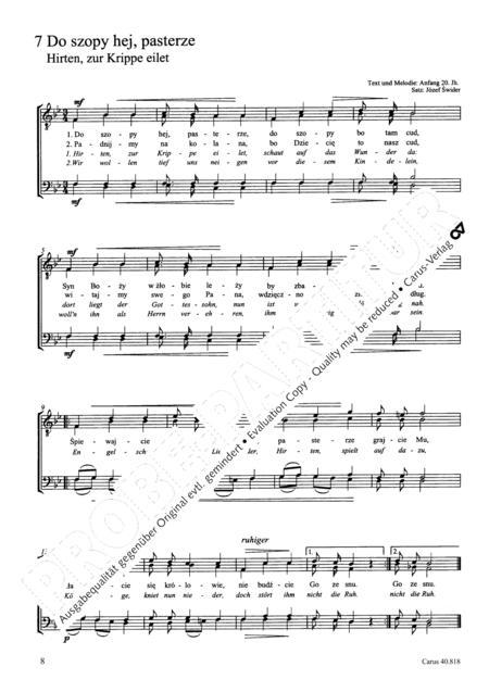 Polnische Weihnachtslieder Texte.Preview Zwolf Polnische Weihnachtslieder Fur Mannerchor A