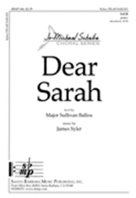 Dear Sarah
