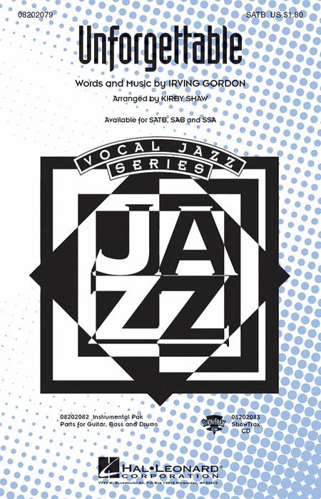 Unforgettable - ShowTrax CD