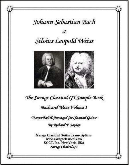 Bach and Weiss Collection Volume 1 for Solo Classical Guitar
