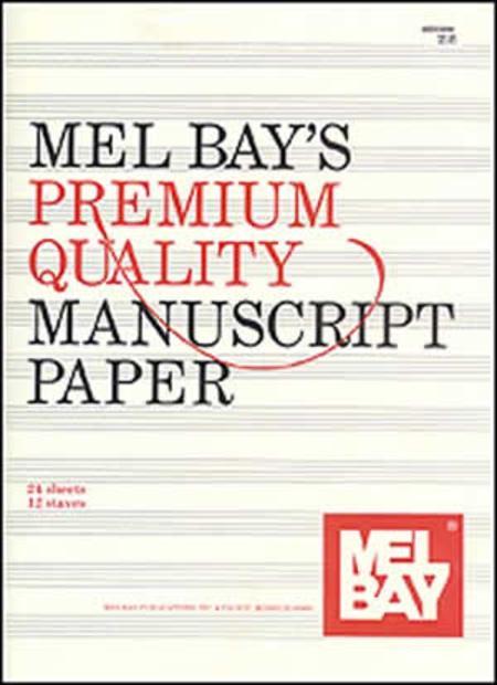 Premium Quality Manuscript Paper Twelve-Stave Quire (24)