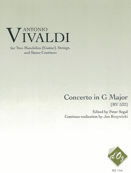 Concerto in G Major RV 532, 2 cahiers