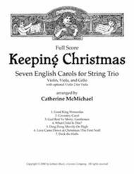 Keeping Christmas: Seven English Carols for String Trio