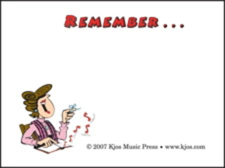 Remember! Post-it Notes