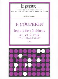 Lecons de Tenebres 1 ou 2 Voix - Soprano/B.Continue/Vle de Gambe