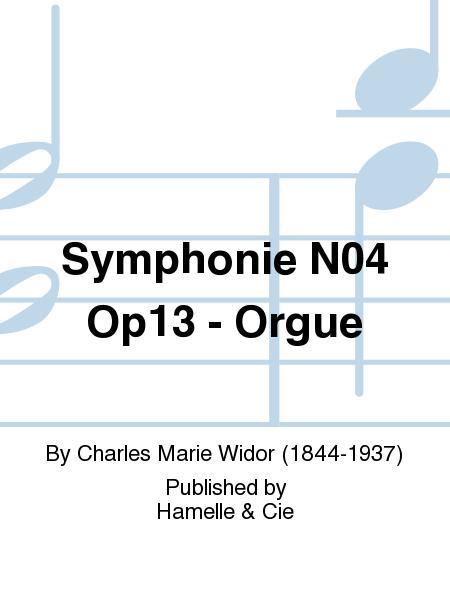 Symphonie No.4 Op13 - Orgue