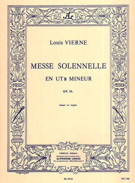 Messe Solennelle Ut Diese Min. - SATB et 2 Orgues