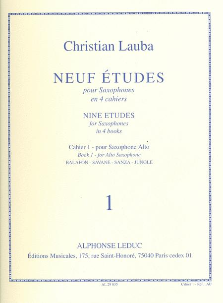 9 Etudes Volume 1 - Saxophone Mib