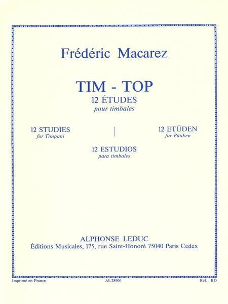 Tim-Top (12 Etudes) - Timbales