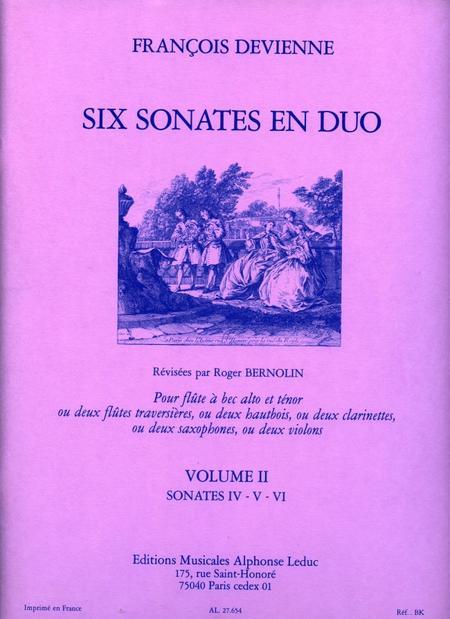 6 Sonates en Duo Volume 2 - Sonates 4-5-6/Flutes a Bec Alto et Tenor
