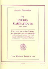 72 Etudes Karnatiques Cycle 11 - Piano