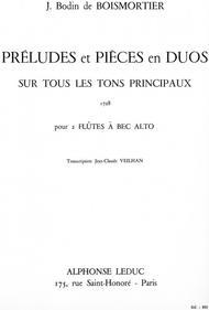 Preludes et Pieces en Duos Sur Tous Les Tons Principaux - 2 Flutes a Bec Alto