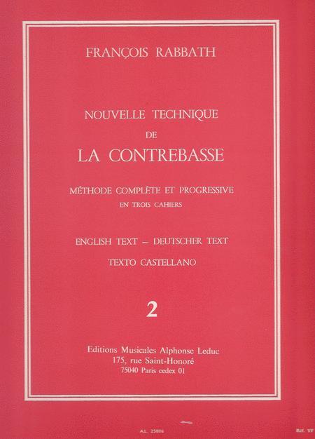 Nouvelle Technique de La Contrebasse Volume 2