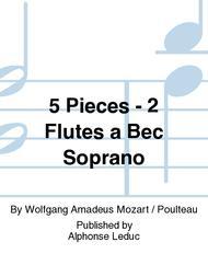 5 Pieces - 2 Flutes a Bec Soprano