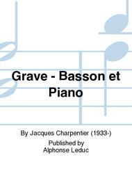 Grave - Basson et Piano