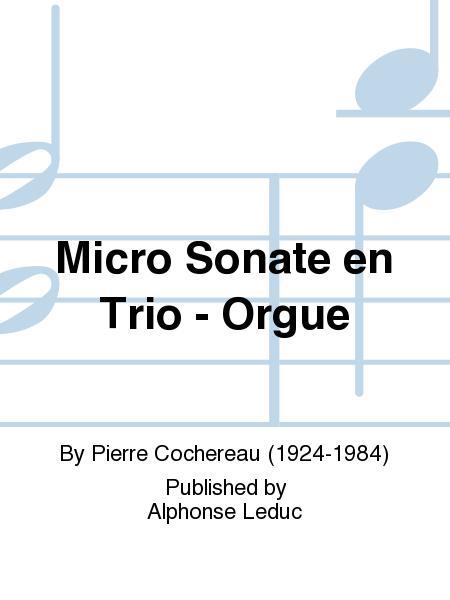 Micro Sonate en Trio - Orgue
