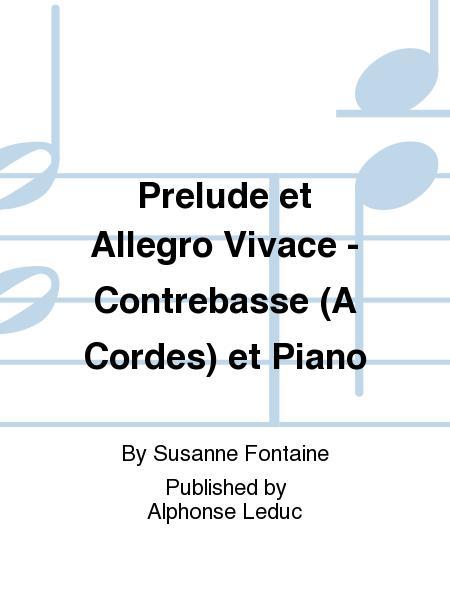 Prelude et Allegro Vivace - Contrebasse (A Cordes) et Piano