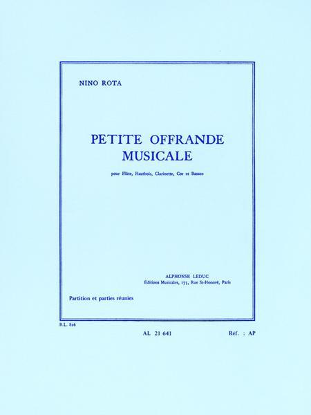Petite Offrande Musicale - Flute Htbois Clar Cor Basson